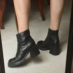 90s Chunky Grunge Faux Leather Boots